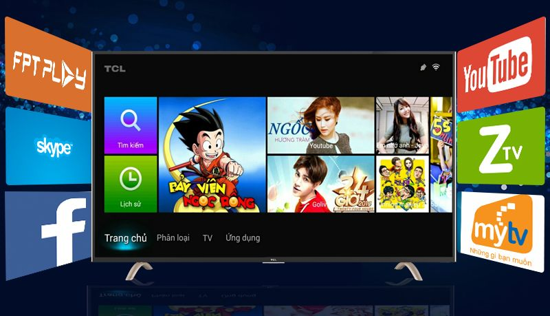 Smart Tivi TCL 32 inch L32P1-SF-Smart tivi Android