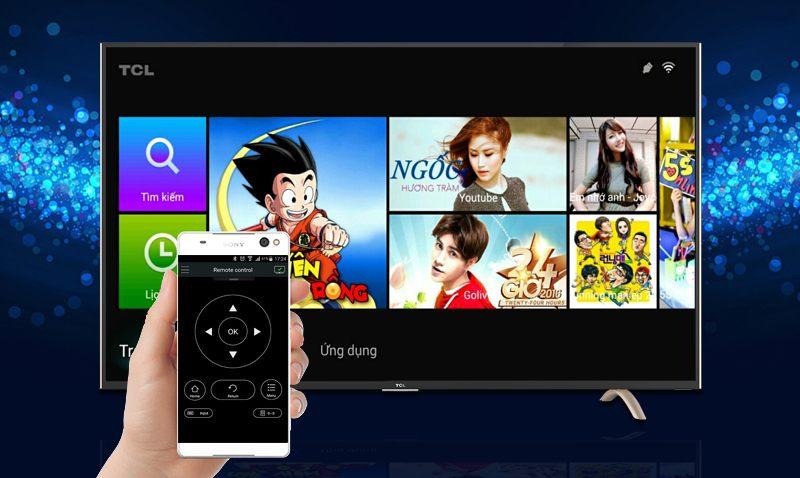Smart Tivi TCL 32 inch L32P1-SF-Điều khiển bằng điện thoại