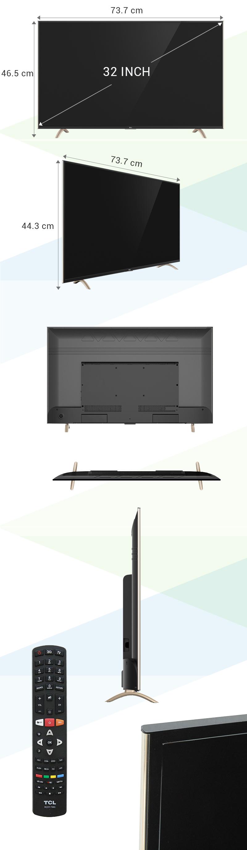 Smart Tivi TCL 32 inch L32P1-SF - Kết nối