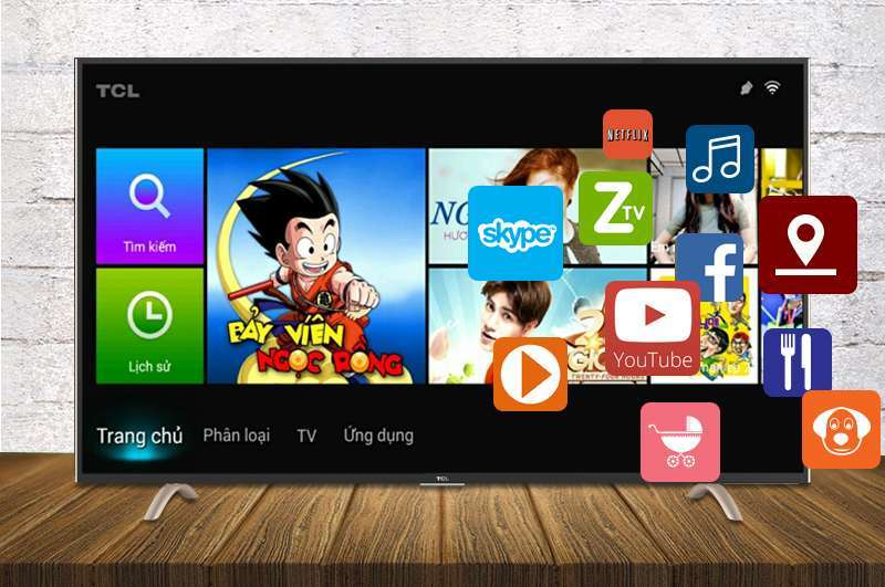 Smart Tivi TCL 55 inch L55P1-SF-Tivi Android