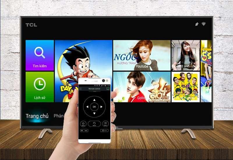 Smart Tivi TCL 55 inch L55P1-SF-Điều khiển tivi bằng điện thoại