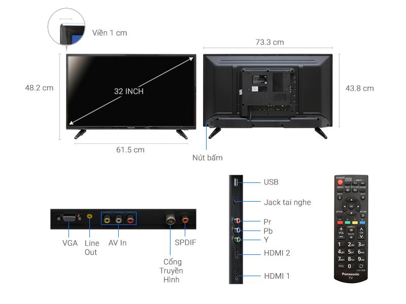 Thông số kỹ thuật Tivi Panasonic 32 inch TH-32D300V