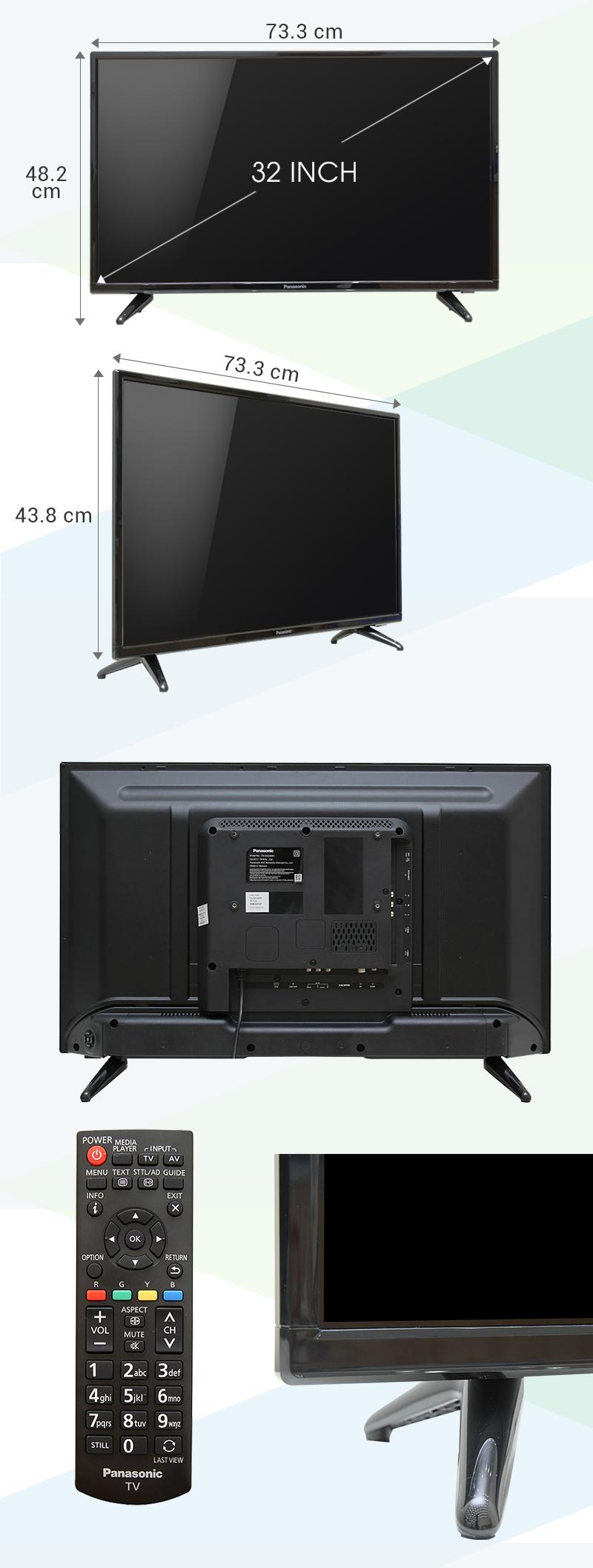 Tivi Panasonic 32 inch TH-32D300V - Kích thước TV