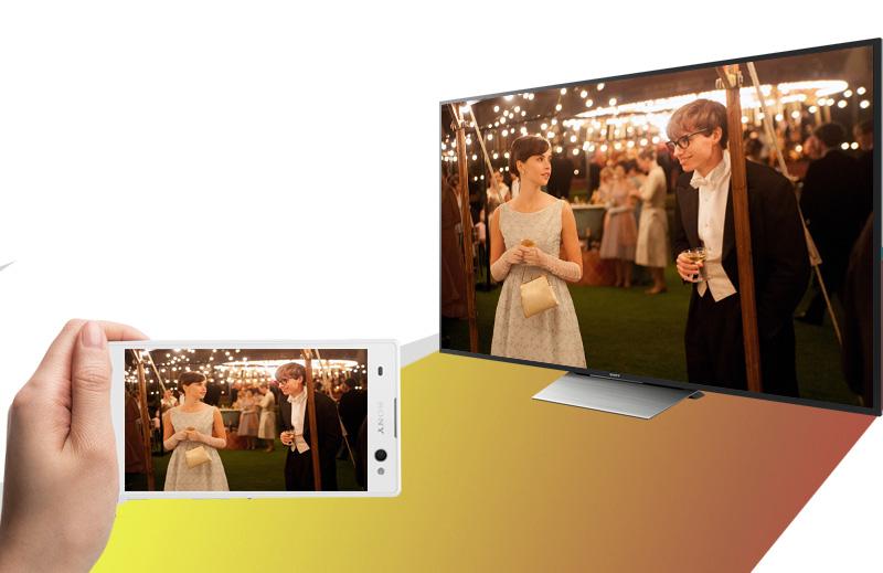 Android Tivi Sony 75 inch KD-75X8500D - Chiếu điện thoại lên tivi