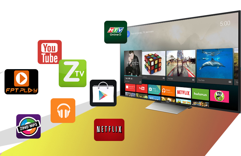 Android Tivi Sony 75 inch KD-75X8500D - Ứng dụng giải trí