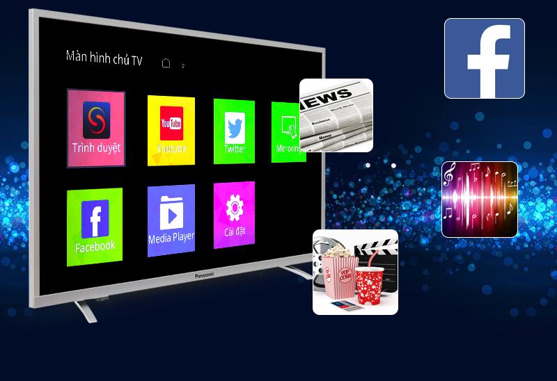 Internet Tivi Panasonic 43 inch TH-43DX400V - Ứng dụng giải trí