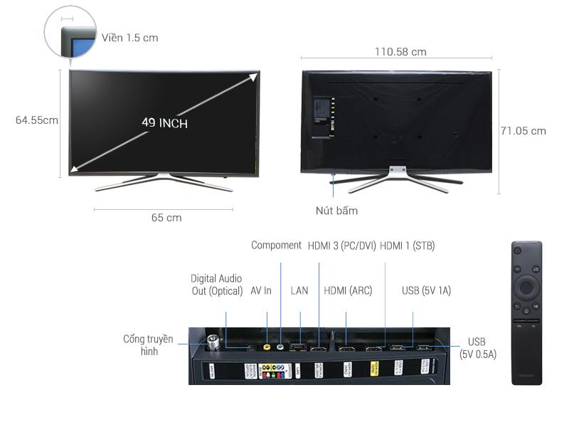 Thông số kỹ thuật Smart Tivi Samsung 49 inch UA49K5500