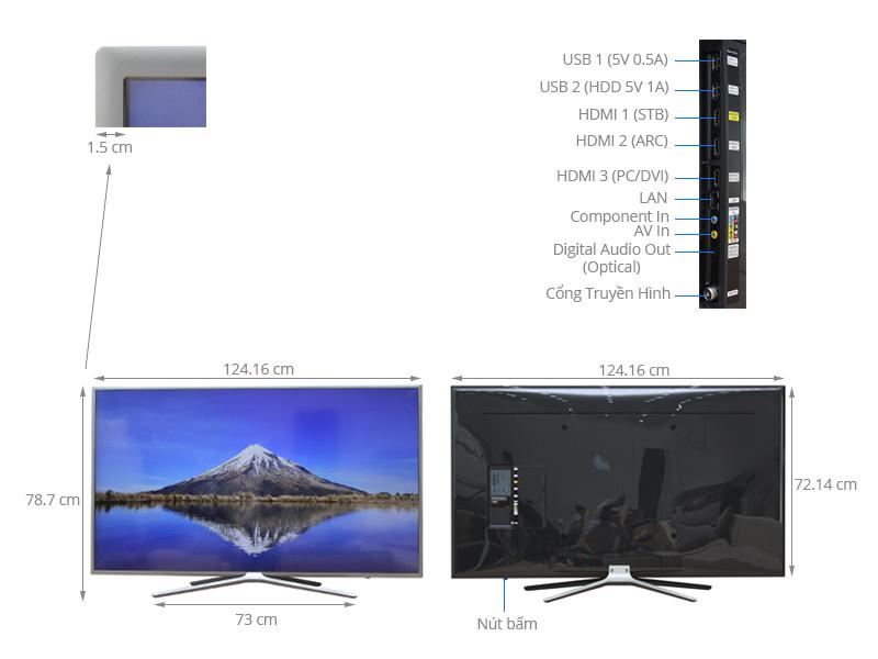 Thông số kỹ thuật Smart Tivi Samsung 55 inch UA55K5500