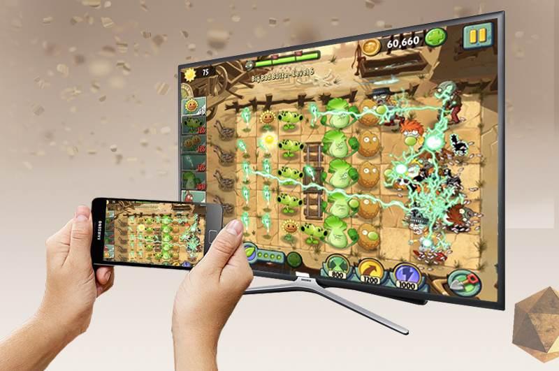 Smart Tivi Samsung 55 inch UA55K5500 - Chiếu hình ảnh lên tivi dễ dàng