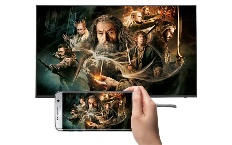 mart Tivi Samsung 55 inch UA55KU6000 - Chiếu điện thoại lên tivi