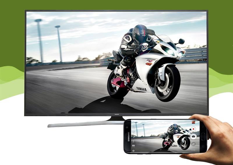 Smart Tivi Samsung 60 inch UA60KU6000 - Chiếu màn hình điện thoại lên tivi