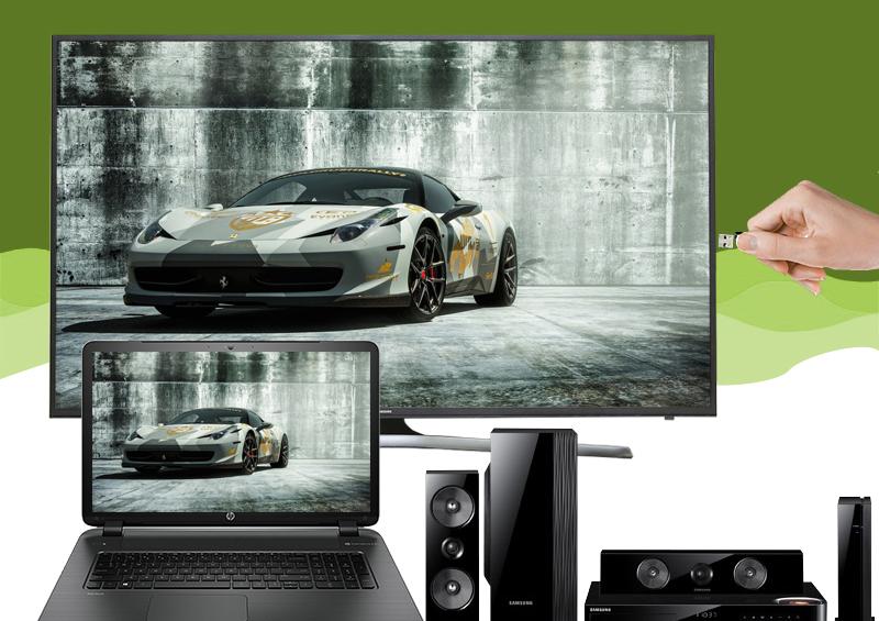 Smart Tivi Samsung 60 inch UA60KU6000 - Kết nối