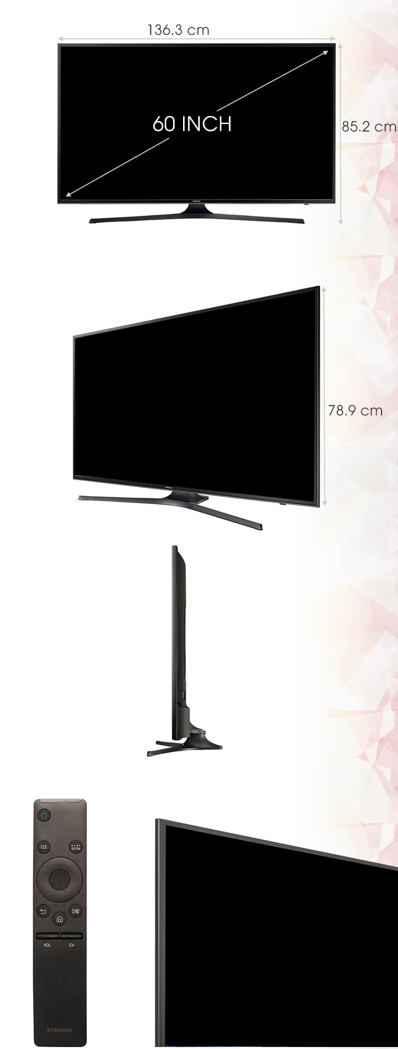 Smart Tivi Samsung 60 inch UA60KU6000 - Kích thước tivi