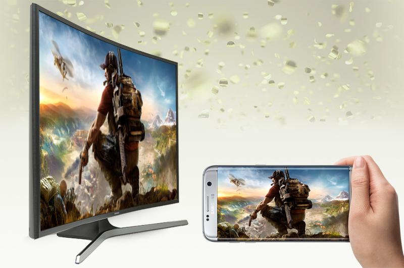Smart Tivi Cong Samsung 49 inch UA49KU610 - Chiếu màn hình điện thoại lên tivi