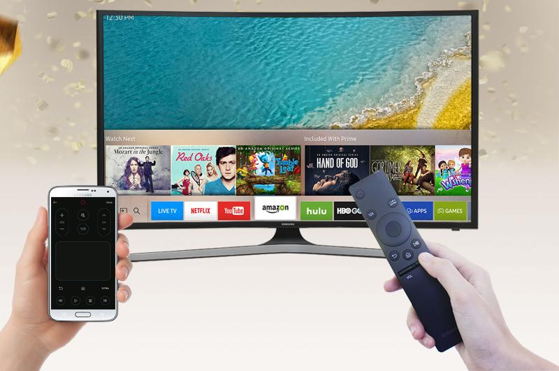 Smart Tivi Cong Samsung 49 inch UA49KU6100 - Điều khiển tivi bằng điện thoại