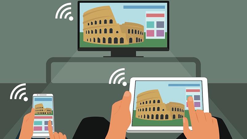 Smart Tivi cong Samsung 40 inch UA40K6300 - Chiếu màn hình điện thoại lên tivi