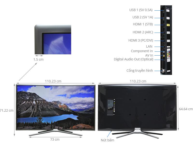 Thông số kỹ thuật Smart Tivi Cong Samsung 49 inch UA49K6300