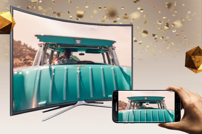 Smart Tivi Cong Samsung 49 inch UA49K6300 - Chiếu màn hình điện thoại lên TV
