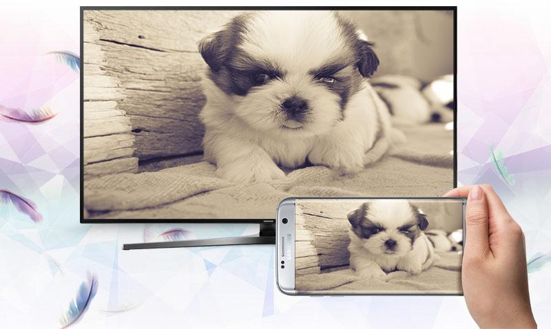 Smart Tivi Samsung 55 inch UA55KU6400 - Chiếu màn hình điện thoại lên tivi