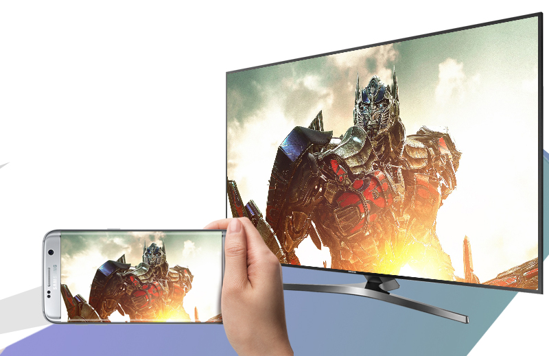 Smart Tivi Samsung 49 inch UA49KU6400 - Chiếu màn hình điện thoại lên tivi