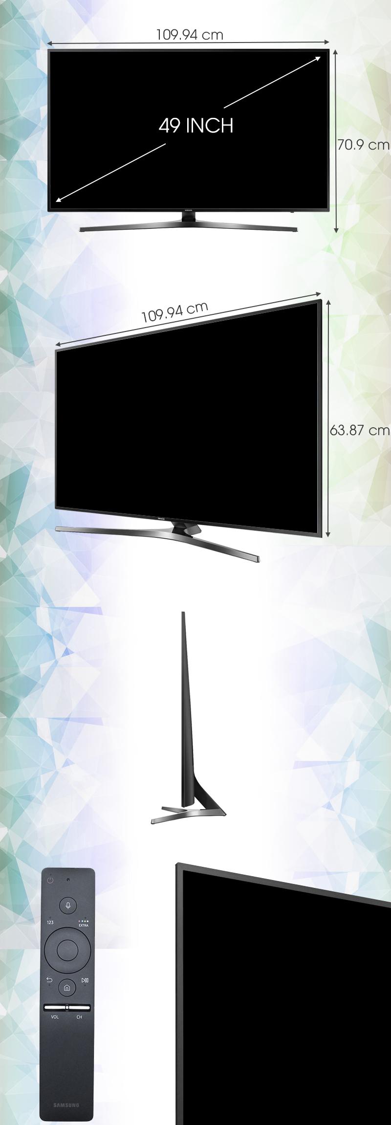 Smart Tivi Samsung 49 inch UA49KU6400 - Kích thước TV