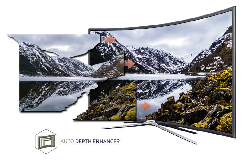 Smart Tivi cong Samsung 55 inch UA55K6300-Hình ảnh chân thực