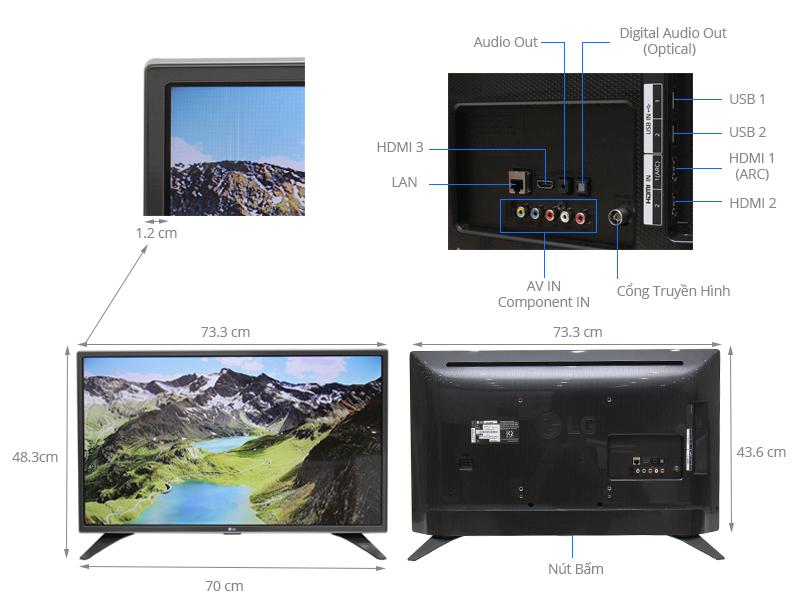 Thông số kỹ thuật Smart Tivi LG 32 inch 32LH604D