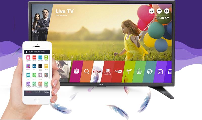 Smart Tivi LG 32 inch 32LH604D - Điều khiển TV bằng điện thoại
