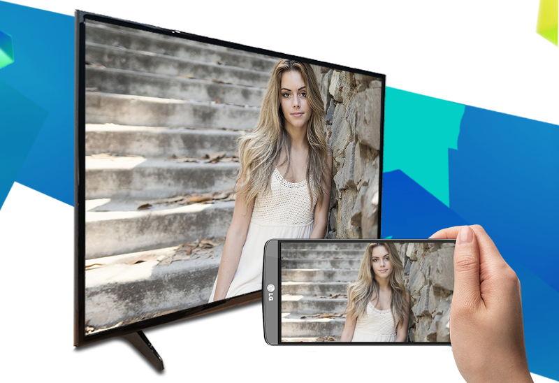 Internet Tivi 43 inch LG 43LH570T-Chiếu màn hình điện thoại lên tivi