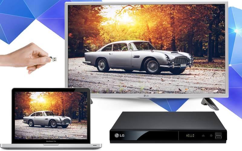 Internet Tivi 32 inch LG 32LH570D-Kết nối đa dạng