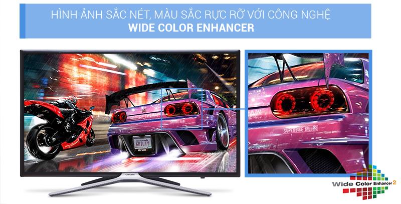 màu sắc trên Smart Tivi Samsung UA32K5500 rực rỡ, nét căng