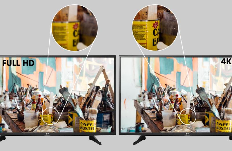 Smart Tivi LG 43 inch 43UH610T - Độ phân giải Ultra HD 4K