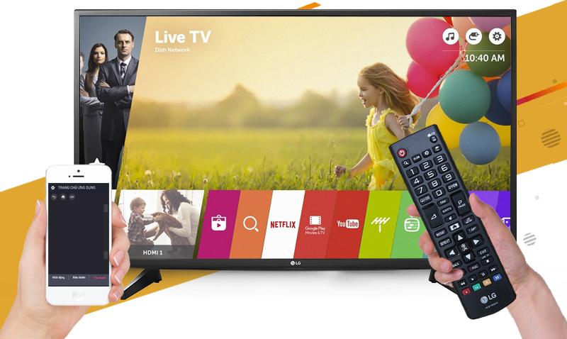 Smart Tivi LG 43 inch 43UH610T - Điều khiển tivi bằng điện thoại