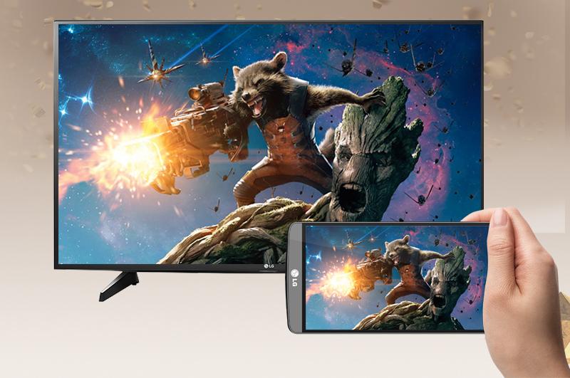 Smart Tivi LG 49 inch 49UH610T - Chiếu màn hình điện thoại lên tivi