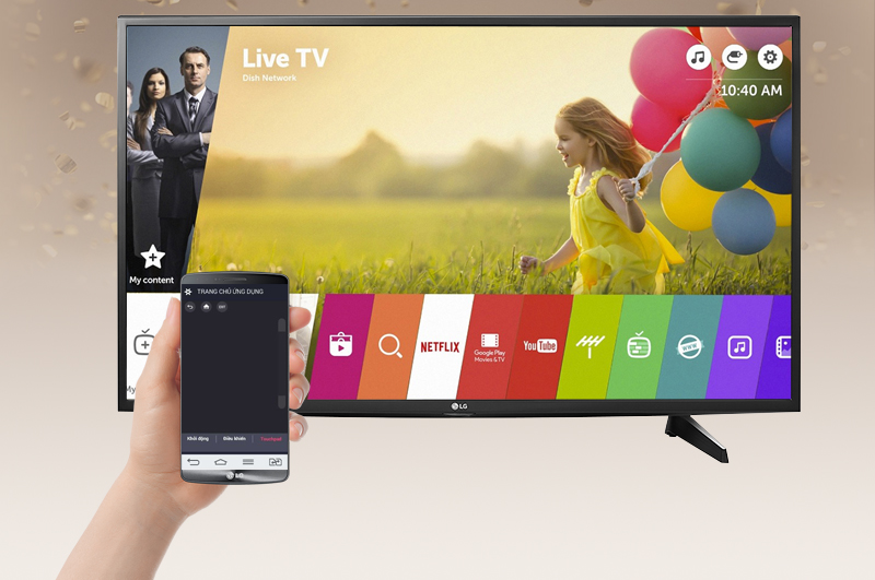 Smart Tivi LG 49 inch 49UH610T - Điều khiển tivi bằng điện thoại