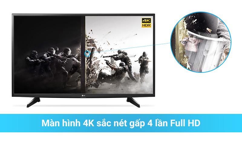 Tivi 4K sắc nét gấp 4 lần Full HD