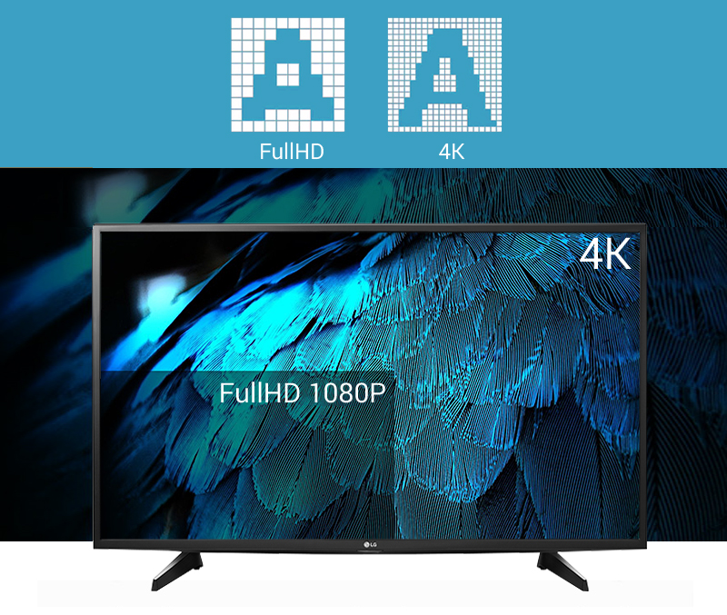 Smart Tivi LG 49 inch 49UH617T - Độ nét Ultra HD 4K