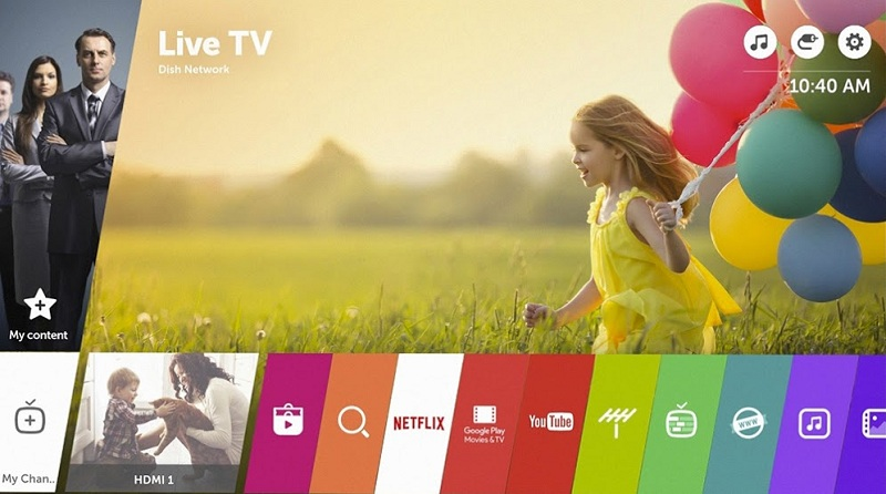 Smart Tivi LG 60 inch 60UH617T - Hệ điều hành tối ưu