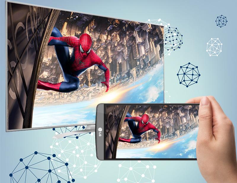 Smart Tivi LG 55 inch 55UH770T - Chiếu màn hình điện thoại lên tivi