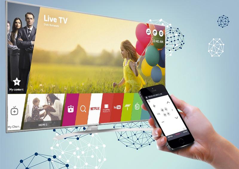 Smart Tivi LG 55 inch 55UH770T - Điều khiển tivi bằng điện thoại