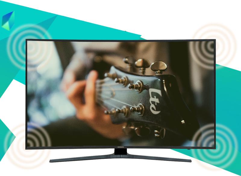 Smart Tivi Cong Samsung 49 inch UA49KU6500 - Âm thanh vòm