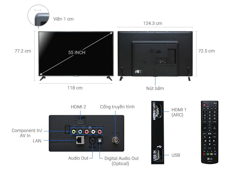 Thông số kỹ thuật Smart Tivi LG 55 inch 55LH575T
