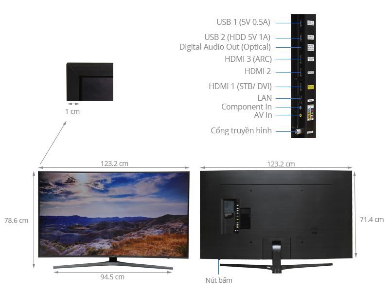 Thông số kỹ thuật Smart Tivi Cong Samsung 55 inch UA55KU6500