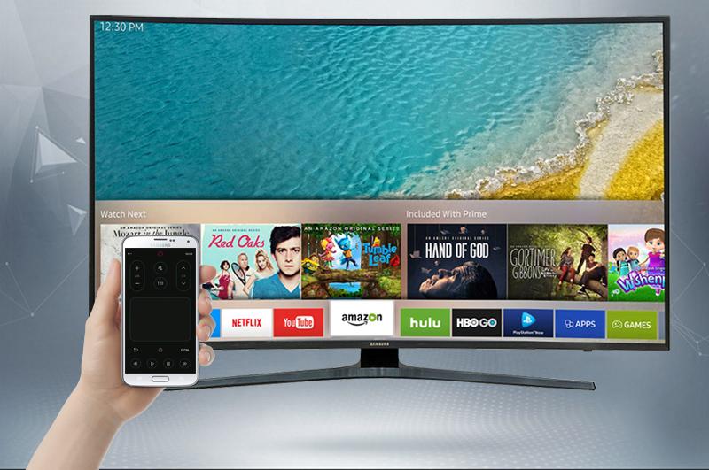 Smart Tivi Cong Samsung 55 inch UA55KU6500 - Điều khiển tivi Samsung bằng điện thoại