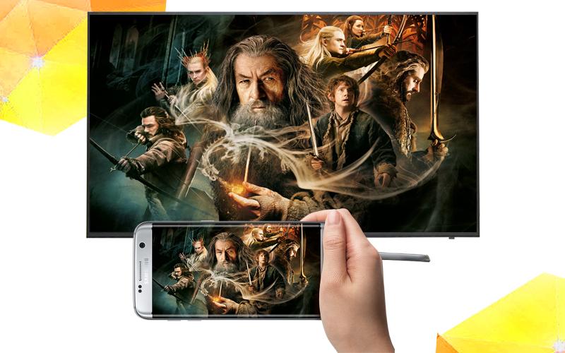 Smart Tivi Samsung 65 inch UA65KU6000- Chiếu màn hình điện thoại lên tivi