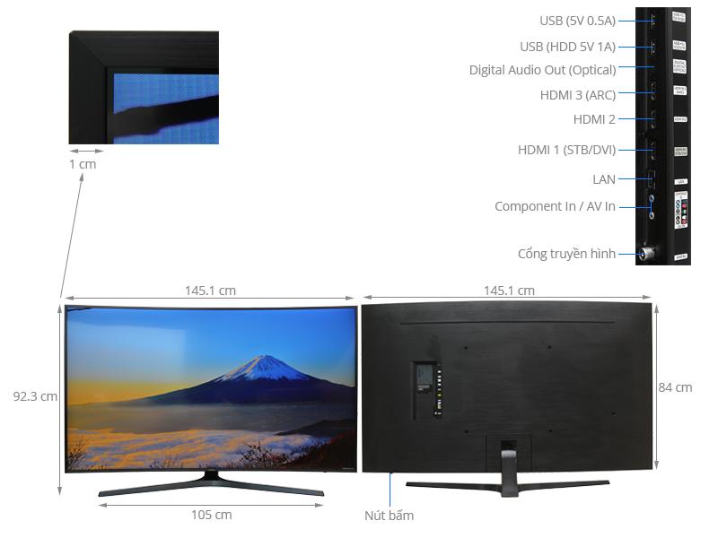 Thông số kỹ thuật Smart Tivi Cong Samsung 65 inch UA65KU6500