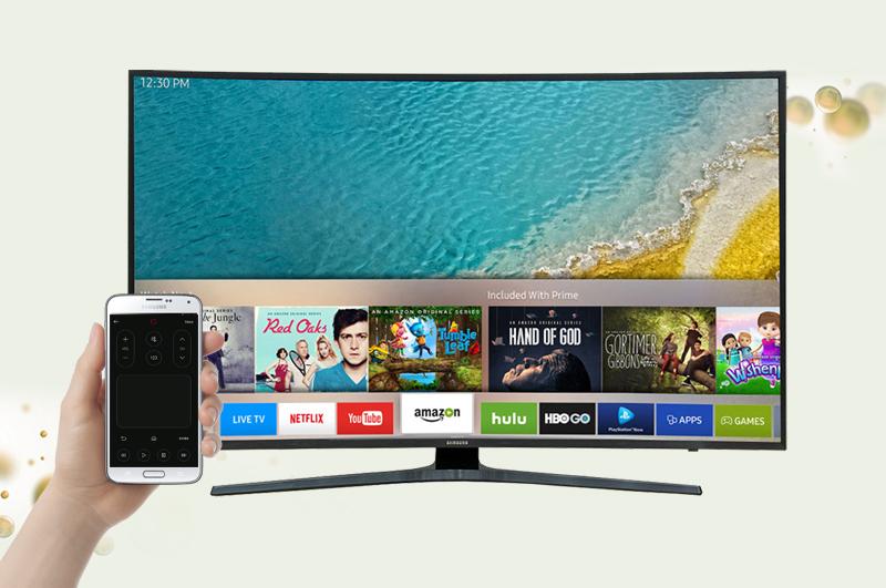 Smart Tivi Cong Samsung 65 inch UA65KU6500 - Điều khiển tivi bằng điện thoại