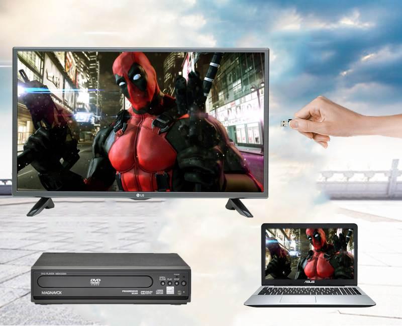 Tivi LG 32 inch 32LH512D - Kết nối nhanh chóng, tiện lợi