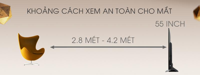 Android Tivi Cong Sony 55 inch KD-55S8500D - Khoảng cách xem TV