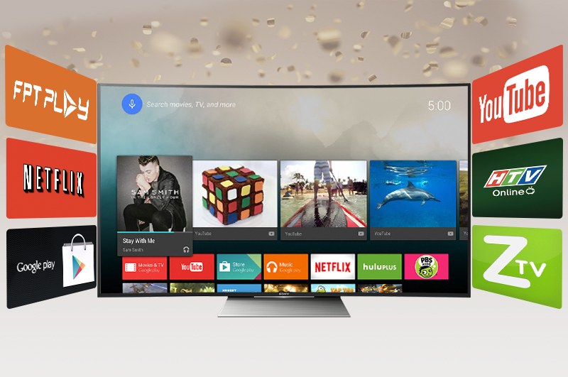 Android Tivi Cong Sony 55 inch KD-55S8500D - Kho ứng dụng